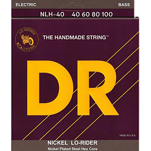 Dr Strings Nickel Lo-Rider - Nickel Plated Hex Core Bass 40-100