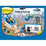 Building Blocks, Police Force. Battery Operated Police Helicopter With Lights And Sound