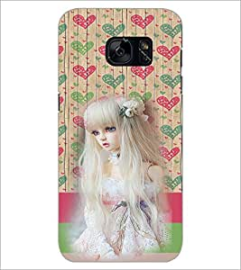 PrintDhaba Cute Girl D-3909 Back Case Cover for SAMSUNG GALAXY S7 (Multi-Coloured)