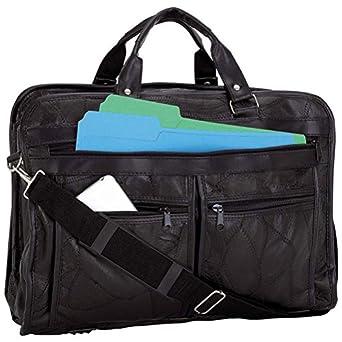 Maxam Brand Mosaic Design Genuine Leather Briefcase
