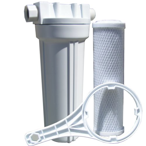 Watts 520021 rv boat single exterior water filter with for Garden water filter