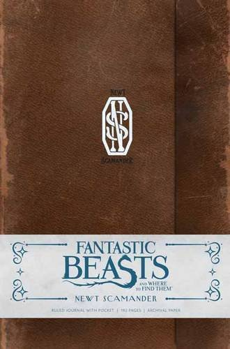Fantastic Beasts and Where to Find Them Newt Scamander Hardcover Ruled Journal