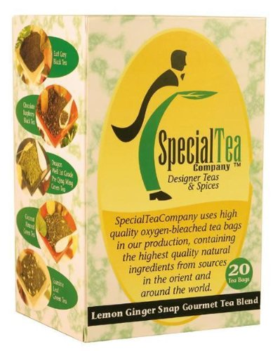 Lemon Ginger Snap Organic - Award Winning Tea X 100 Tea Bags + Free Samples