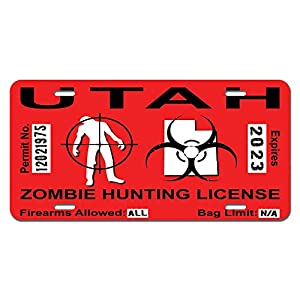 Utah ut zombie hunting license permit red for Utah non resident fishing license