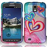 [Windowcell] Hard Case for Samsung Galaxy S4 Active I537 I9295 (At&t) Rubberized Design Cover - Heartception