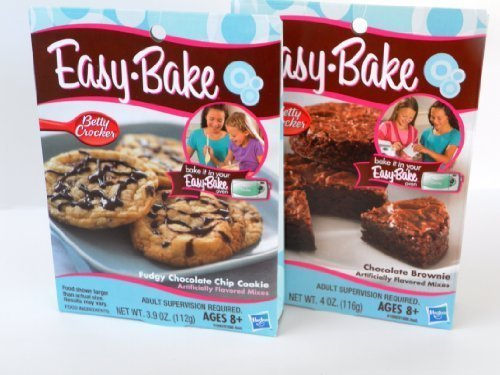 Easy Bake 2 Pk Combo Fudgy Chocolate Chip Cookie, Chocolate Brownie Mixes by Easy Bake (Easy Bake Real Meal compare prices)