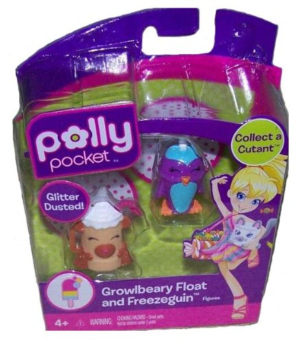 Picture of Mattel Polly Pocket Glitter Dusted Growlbeary Float and Freezeguin Figures (B004N97H28) (Mattel Action Figures)