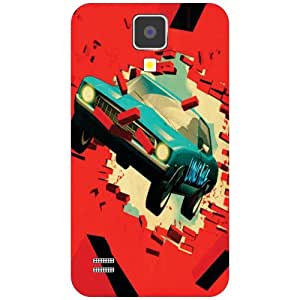 Samsung I9500 Galaxy S4 Red Car Matte Finish Phone Cover