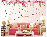 Oren Empower (2pc/set) Cherry Blossom Flowers Tree Wall Art PVC Vinyl Extra Large Wall Sticker