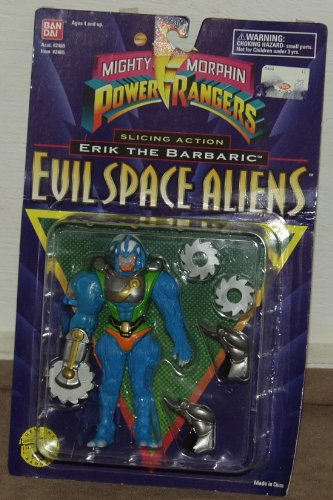 Buy Low Price Bandai Power Rangers Evil Space Alien Slicing Action Erik the Barbaric MOSC MOC 5 1/2″ Villain Figure (B002WTTAC6)