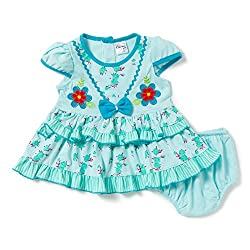 Camey Girls Bow Blue Frock Set (18-24 months)