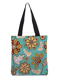 Snoogg Colorful Floral Seamless Pattern In Cartoon Style Seamless Pattern Designer Poly Canvas Tote Bag - B012FUFJ62