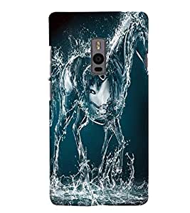 GADGET LOOKS PRINTED BACK COVER FOR ONE PLUS TWO MULTICOLOR