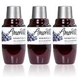 Amoretti Premium Blueberry Martini Cocktail Mix 3 Pack Minis (3.4 fl oz)