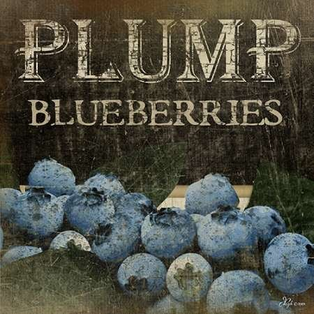 Plump Blueberries Von Pugh, Jennifer Kunstdruck auf Leinwand - Klein (30 x 30 cms )