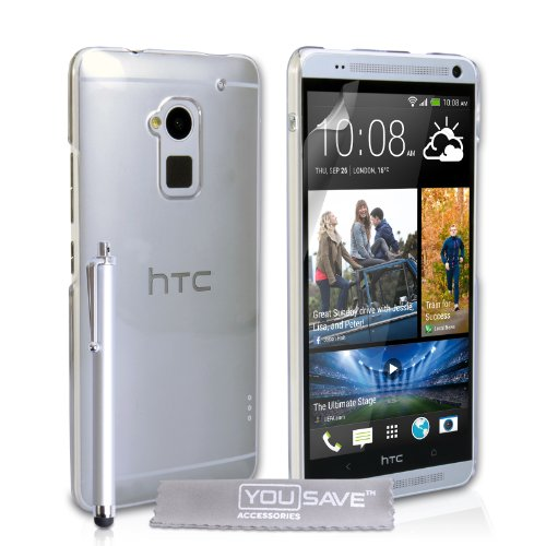 yousave-accessories-hard-cover-with-stylus-pen-for-htc-one-max-crystal-clear