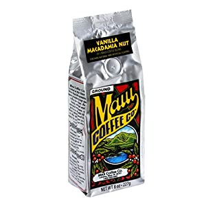 Maui Coffee Company 20% Maui Blend Vanilla Macadamia Nut Coffee (Ground), 7-Ounces (Pack of 3)