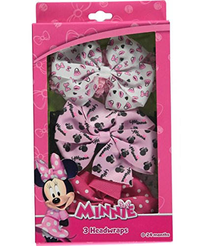 Minnie Mouse Hair Box Set with Headwrap & Grosgrain Bow
