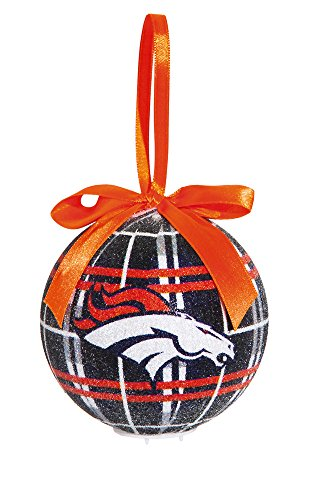 100Mm Led Ball Ornament, Denver Broncos