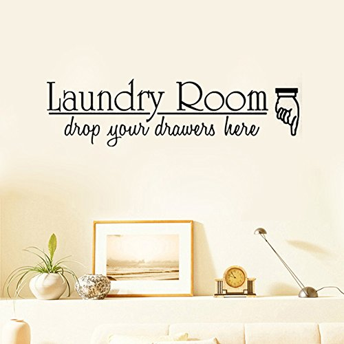 Kililaya home hotel laundry room wall sticker inspiring for Living room 6 letters