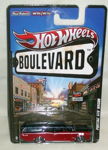 Hot Wheels Boulevard Big Hits Pontiac GTO Wagon Black/Red - 1