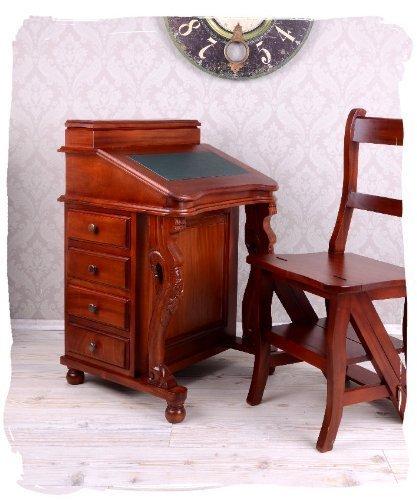 English Solid Mahogany Davenport Bureau Desk Colonial Palazzo