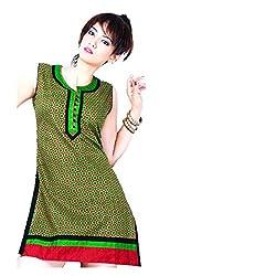 Kaya Women's Cotton Kurti (005KUCO001_Multi-Coloured_X-Large)