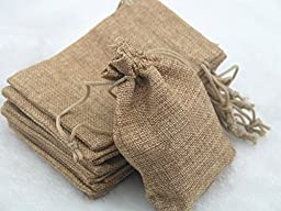 25pcs 12.5x17.0cm Camel Hemp/hessian Bags, Jewelry Pouches, Wedding Favors, Jewelry Packing, Gift Bags