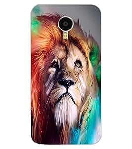 ColourCraft Lion Look Design Back Case Cover for MEIZU M3 NOTE