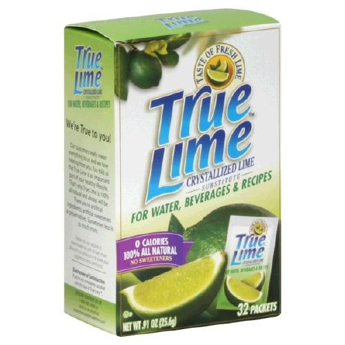 True Lemon, Lime Crystlzd Pckt 32Pc, 2.8 Fo (Pack Of 12)