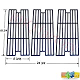 bbq factory Replacement Porcelain coated Cast Iron Cooking Grid Grate JGX113 for Select Gas Grill Models by Kenmore, Kmart and Others, Set of 3