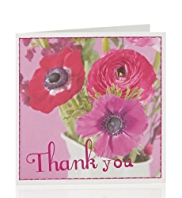 8 Thank You Bright Floral Photo Multipack Cards