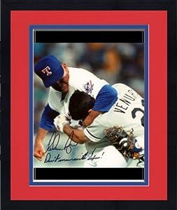 Framed Nolan Ryan Texas Rangers Autographed 8
