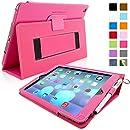 Snugg™ - Étui Pour iPad Air (iPad 5) - Smart Case Avec Support Pied Et Une Garantie à Vie (En Cuir Rose Foncé) Pour Apple iPad Air
