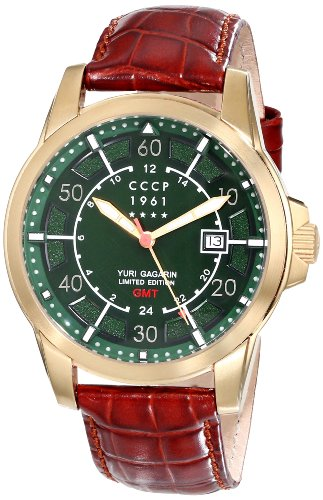 CCCP Men's CP-7003-01 Yuri Gagarin Limited Edition Analog Display Swiss Quartz Brown Watch