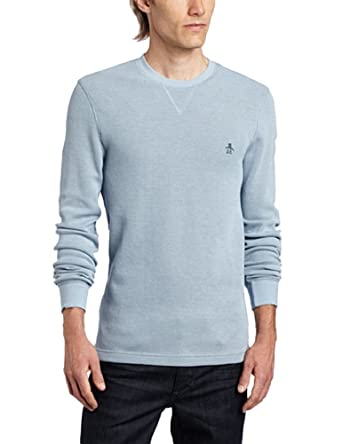 Original Penguin Men's Bernardo Crew Tee, Dusty Blue, X-Large