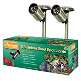 2 Pack Solar Stainless Steel Spotlights