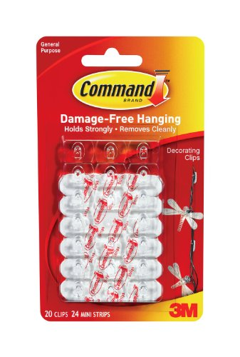 Command 17026 Decorating Clips, 20 Clips 24 Strips