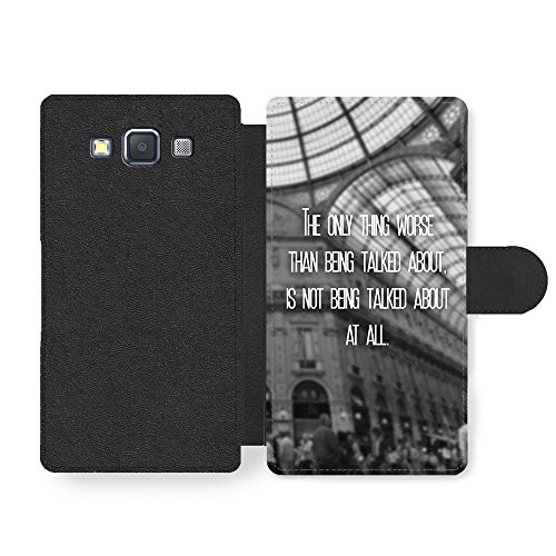The Only Thing Worse Inspirational Quote Fashion Cool Design Custodia in Faux Pelle per Samsung Galaxy A3 (2014 edition)