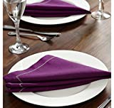 @home by Nilkamal 16'x16' Royal Legacy Table Napkin, Purple