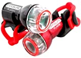 Exposure Flash Front and Flare Rear Cycle Light Set (With Rechargeable Battery Pack)