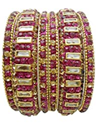 Antique Rani Gold Plated Bangles Set By My Design(size-2.8)