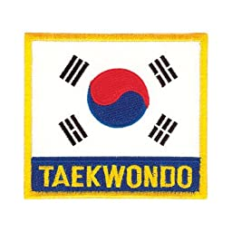 Tiger Claw Korean Flag with Taekwondo Patch - 3 1/2\