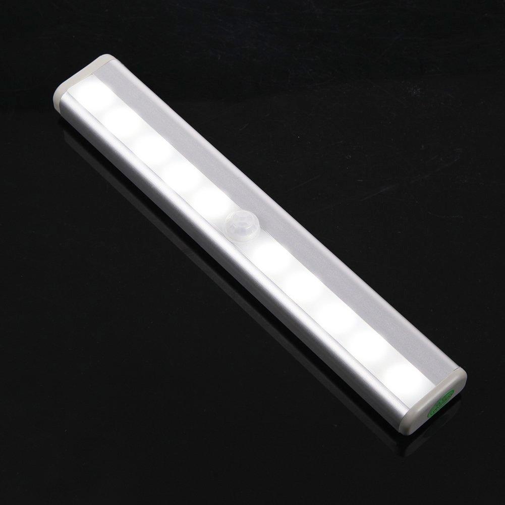 MagicLight® Portable Wireless10-LED Motion Sensor Light, Night-Light, Closet Light, Wall Light for Cabinet, Bathroom, Garage, Basement, Stairway, Pantry, Drawer (Battery Operated, 6500K)