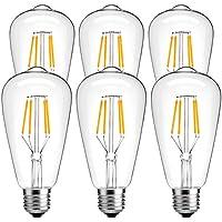 LuminWiz Vintage Edison Style LED Light Bulb (6-Pack)