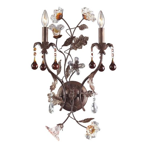 """Ghia Collection 14"""" High Double Arm Wall Sconce"""