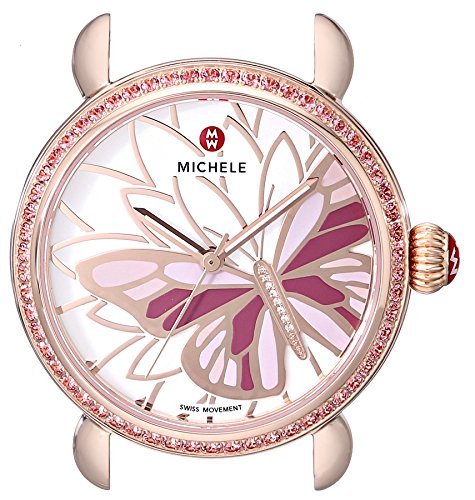 MICHELE Women's MW05D36B4995 Analog Display Swiss Quartz Rose Gold Watch Head