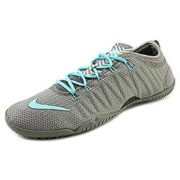 Nike Women\'s Free 1.0 Cross Bionic Running Shoes-Light Ash/Hyper Turquoise-8