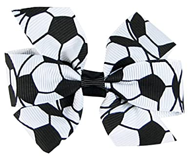 Hip Girl Boutique Grosgrain Ribbon Hair Bow on Lined Alligator Clips