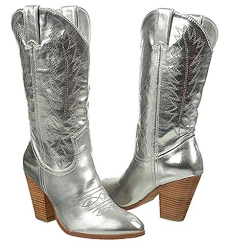 Image of Miranda Lambert Women's Bling Cowboy Boots, Platinum Silver (7.5 B(M) US)